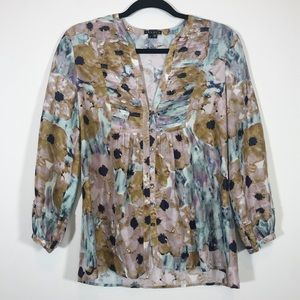 Theory - Silk Watercolor Blouse